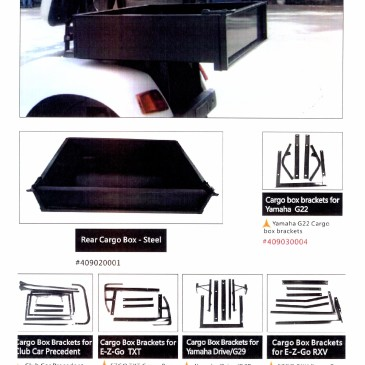 Rear cargo box steel/alluminum