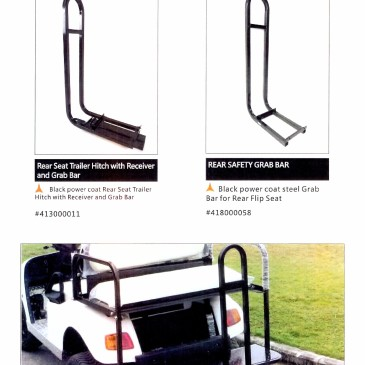 Rear safety grab bar