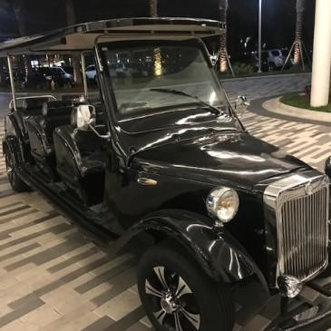 Cadillac style, 6+2 seats